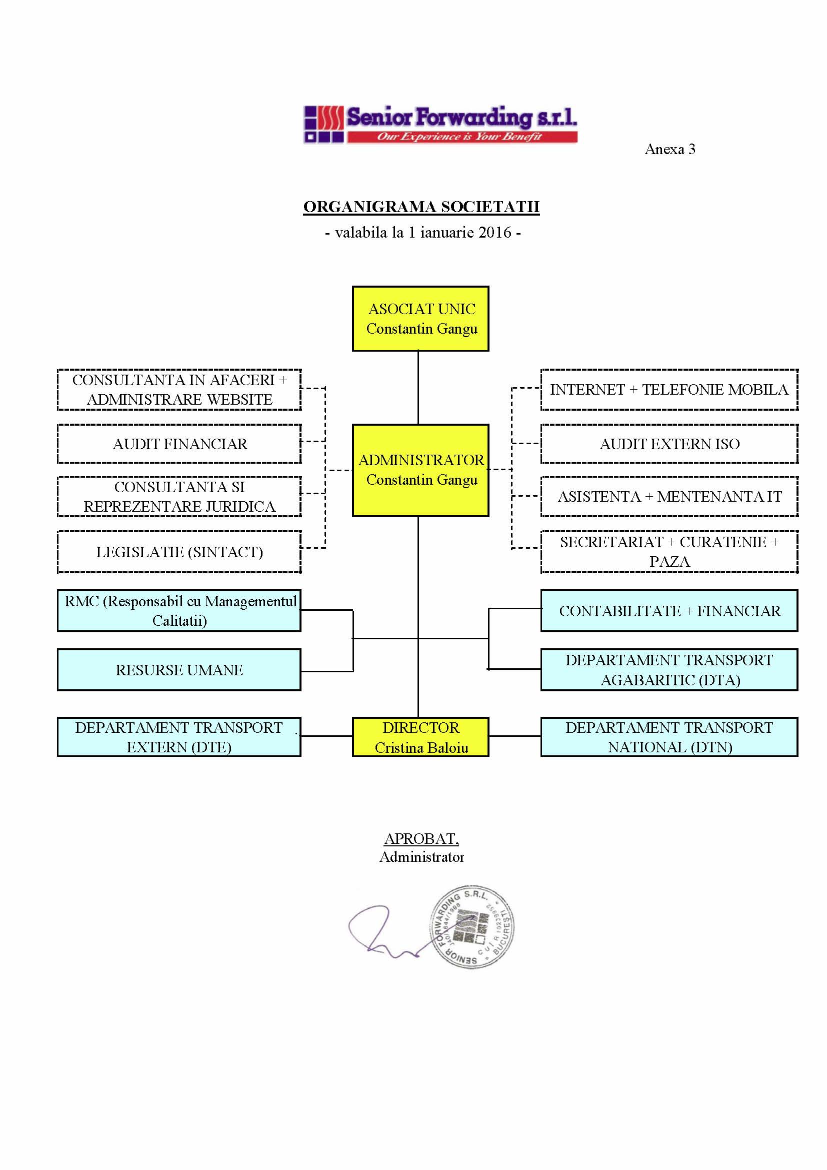 senior forwarding organisation structure